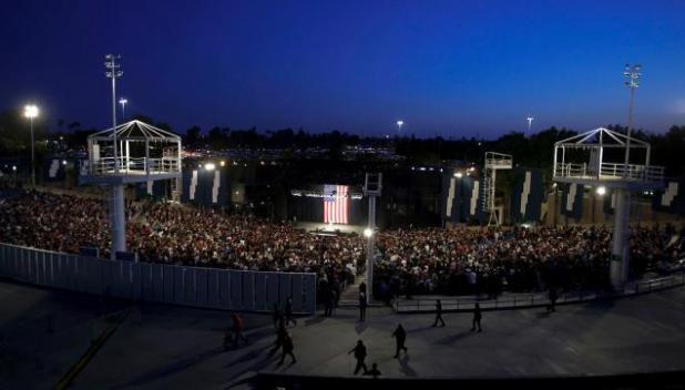 The rally itself had an estimated 8,000 attendees who mixed with 3,000 people outside the event.