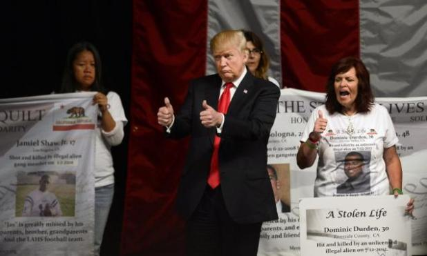 The event marked the beginning of Trump's campaign in California, ahead of its June primary.