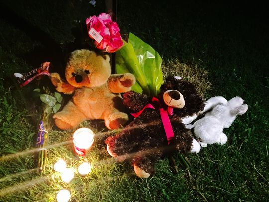 A candlelight vigil was held for Timea Lashay Batts on Monday night after the 11-year-old was shot and killed in Hendersonville. (Photo: Dessislava Yankova / Gallatin News Examiner)