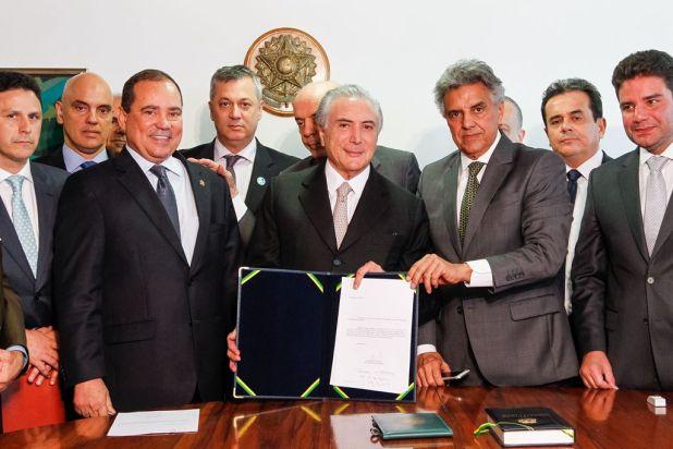 Michel Temer is sworn in as president of Brazil