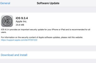 Apple Releases iOS 9.3.4 With Important Security Patch For iPhone and iPad