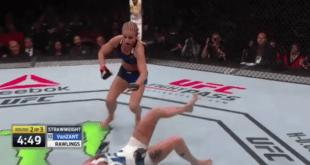 Paige VanZant Lands Huge Brutal Flying Head Kick KO