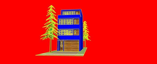 _townhouse model BLUE