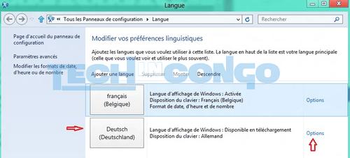 module linguistique francais windows 8.1