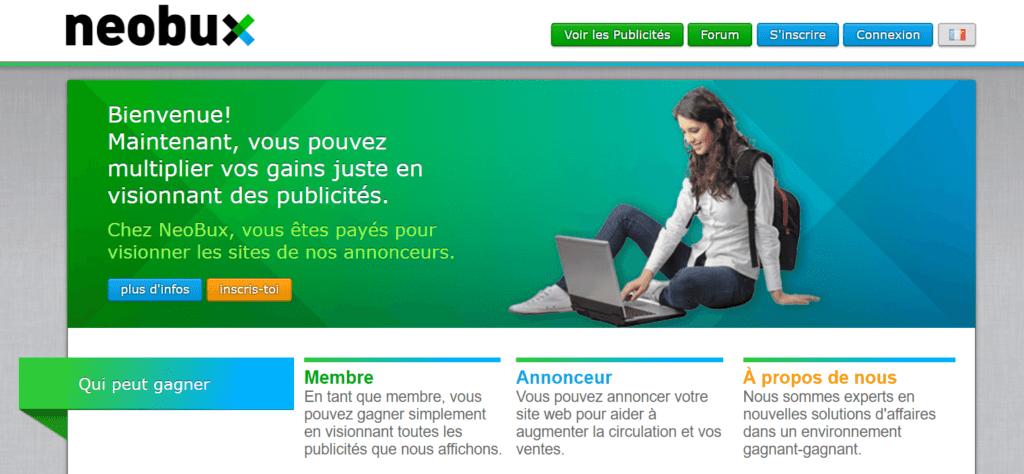 Neobux 1024x474 Top 3 des meilleurs sites pour gagner de l'argent en regardant des pubs