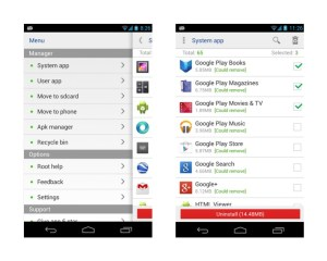 Comment supprimer les applications android