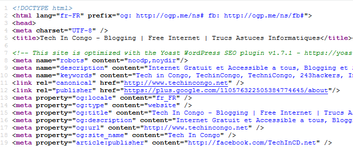 balises techincongo Les Balises HTML indispensables qu'un site-web doit avoir en 2016