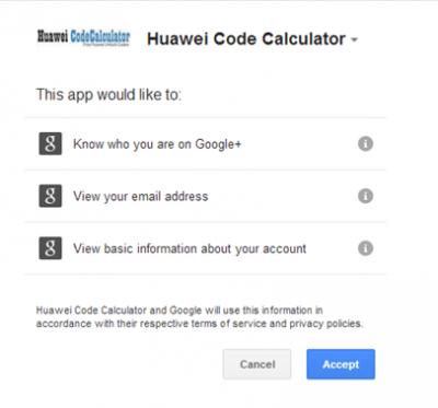 Huawei Code Calculator Accept1 400x373 Générer le code de réinitialisation du compteur de déblocage pour le modem Huawei (NEW/OLD ALGO HASH RESET)