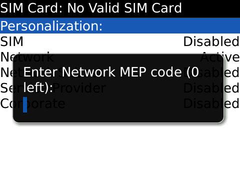 Blackberry code reseau Comment standardiser un Blackberry gratuitement