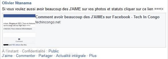 Statut facebook avant LikeLikeGo Comment avoir beaucoup de j'aime sur Facebook (photo et status)