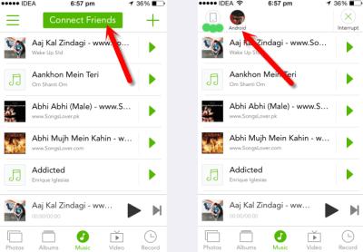 Xender sur iPhone 400x278 Comment transférer des fichiers de Android vers iPhone et vice versa