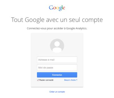 Connexion compte google 400x346 Google Analytics : Qui visite votre site ? Que visite-t-il ? : Analyse d'audience