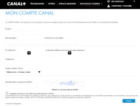 Formulaire Inscription 400x305 myCANAL : Suivre les chaines CANAL+ Par Internet sur Ordinateur/Android/iPhone.