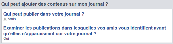 Gerer Les identifications Facebook