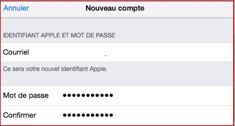 Inscription Compte Apple