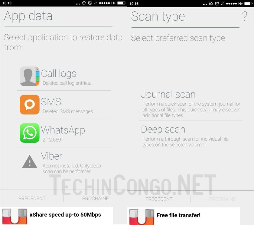 Restauration fichier donnee Undeleter Récupérer les SMS effacés sur Android sans PC - Photos, Vidéos, Fichiers supprimés aussi