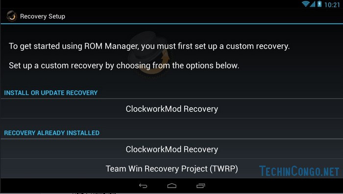 Recovery Setup Comment installer le custom recovery CWM sur tout Android facilement