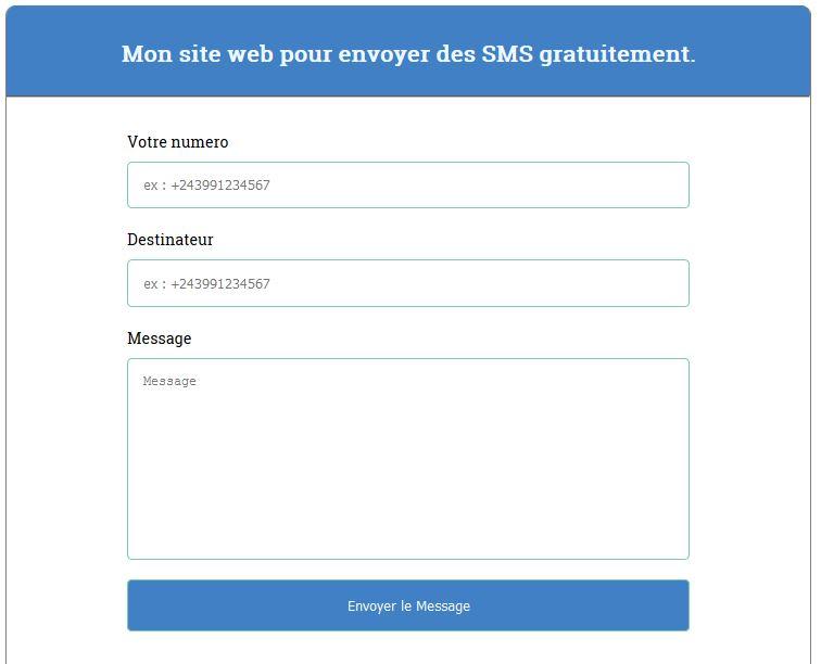 Formulaire pour envoyer SMS Script PHP pour envoyer des SMS gratuitement