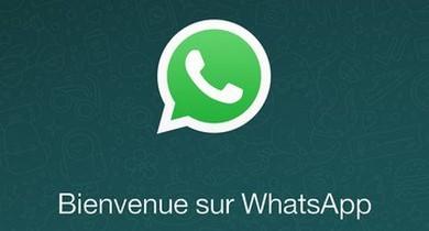 Bienvenue sur WhatsApp Facebook