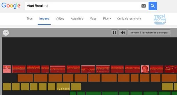 Atari Breakout Top 5 Jeux cachés dans le moteur de recherche Google