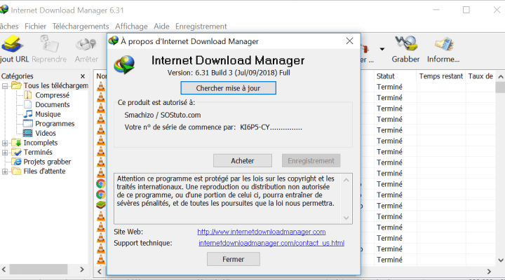 Comment intégrer Internet Download Manager IDM dans Google Chrome et Firefox