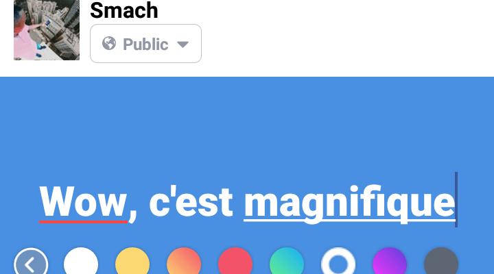 Voici comment changer l'arrière-plan de vos publications Facebook