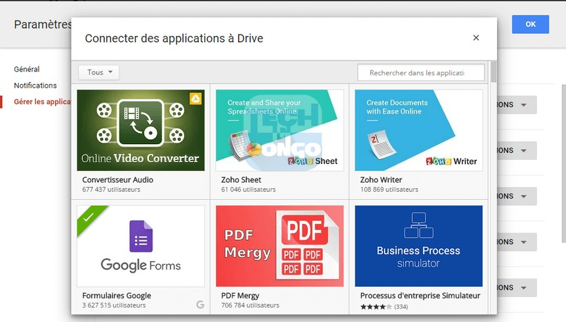 Connecter applications a Drive Comment installer et utiliser des applications dans Google Drive