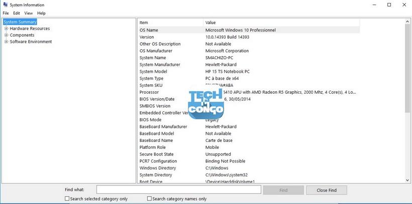 System Information 1 Liste des commandes « exécuter » (Run) utiles pour Windows 10 / 8 /7