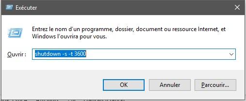 commande shutdown Méthodes pour programmer l'arrêt ou le redémarrage d'un PC sans logiciel