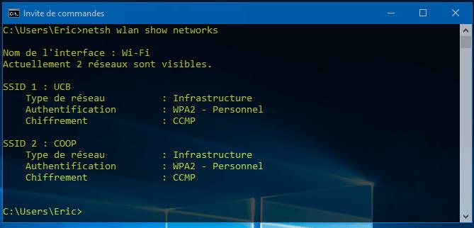 reseaux visibles Comment Trouver le Code d'un WiFi Sécurisé Enregistré sur Votre PC