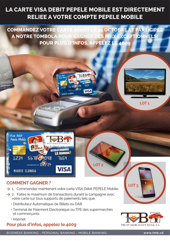 tombola visa debit pepele mobile 724x1024 Pourquoi commander la carte VISA DEBIT PEPELE mobile – 4 raisons