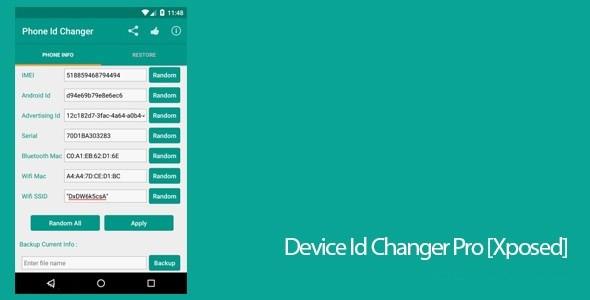 Device ID Changer Top 10 de meilleures applications de piratage pour Android (Edition 2018)
