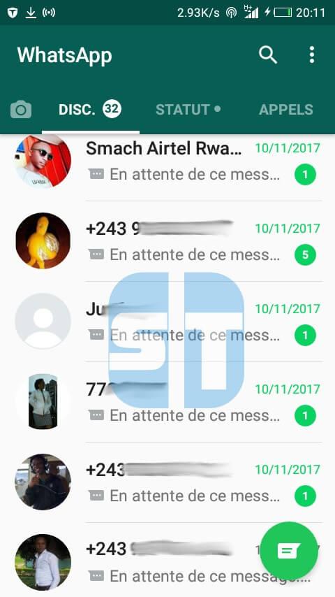 mes conversations whatsapp Fixer le problème WhatsApp «En attente de ce message. Ceci pourrait prendre un moment»