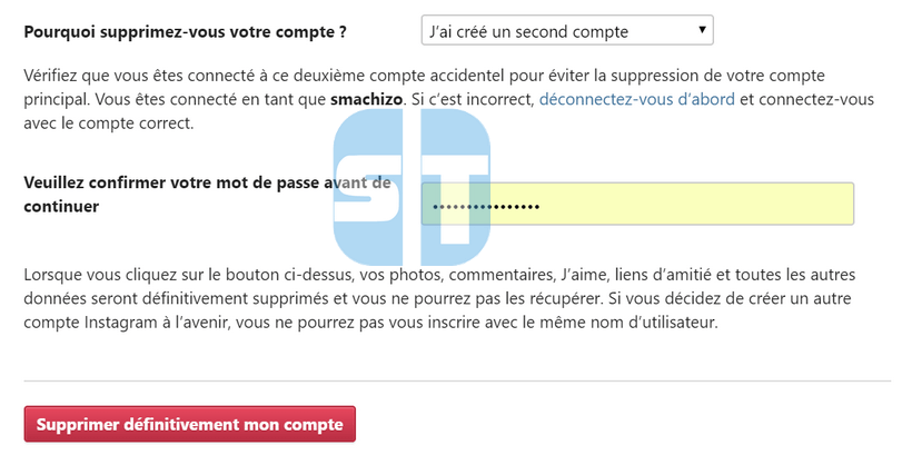 suppression definitive Instagram Comment supprimer un compte Instagram en 2017