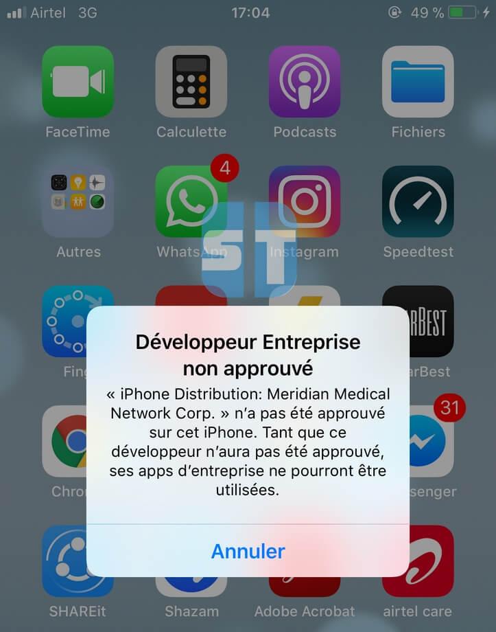 Developpeur Entreprise non approuv%C3%A9 Télécharger et installer TweakBox sans Jailbreak iOS 11 / iOS 10