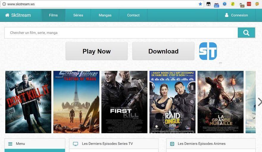 SKstream Les Sites de Streaming Gratuits pour voir les Films et Séries en Français