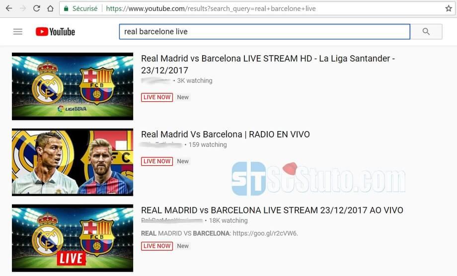 YouTube Live NOW Comment voir les Match en Direct de la Liga, LdC, Coupe du Roi en Streaming
