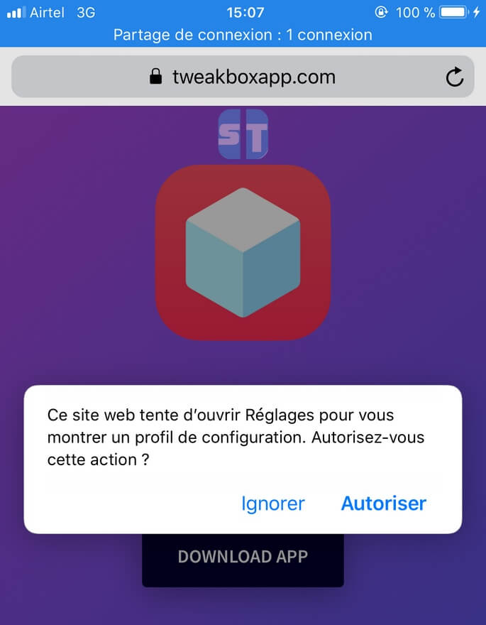 Autoriser Profil Tweakbox 1 Télécharger et Installer TweakBox sans Jailbreak pour iOS 12 / iOS 11