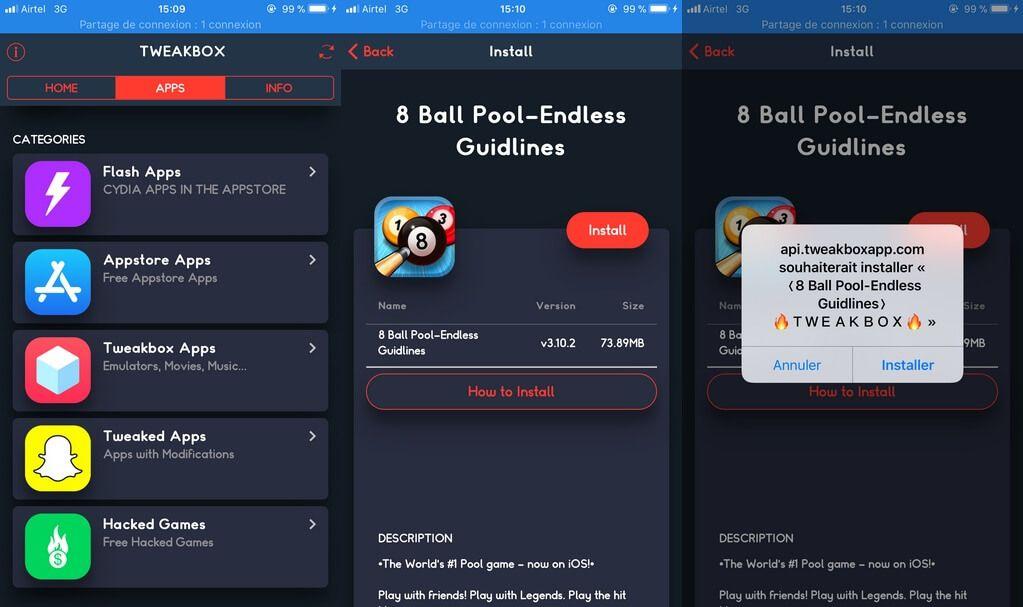 Tweakbox installé Télécharger et installer TweakBox sans Jailbreak iOS 11 / iOS 10