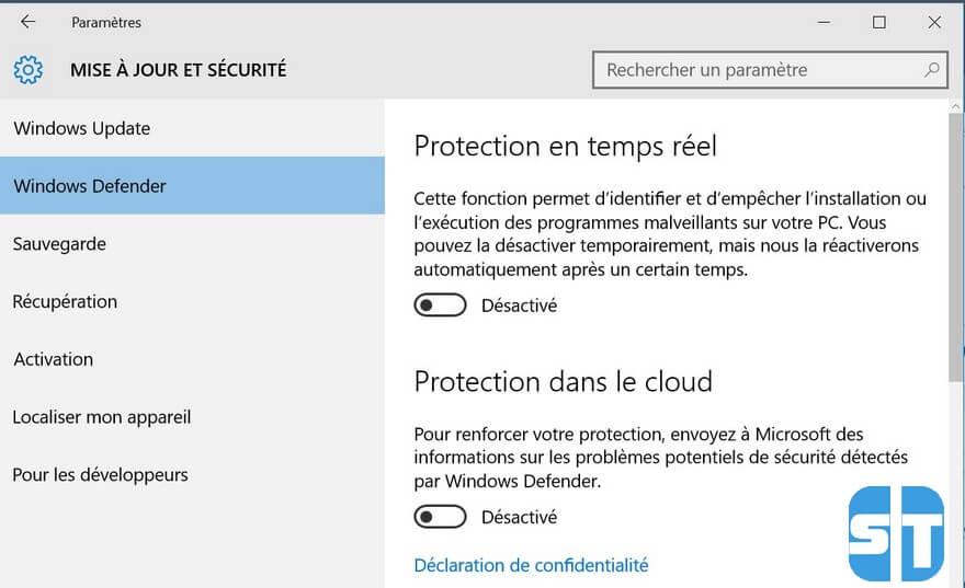 Windows Defender desactivé Comment contourner la protection de compte Google (FRP) sur les smartphones MEDIATEK