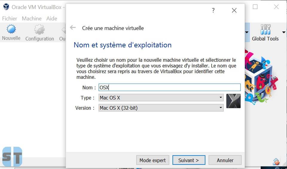 Creation machine virtuelle Comment installer OS X sur Windows 10, 8, 7 avec une machine virtuelle