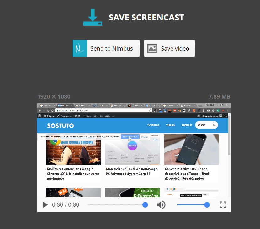 Save Video Screencast Comment enregistrer son écran de bureau avec Google Chrome sur Windows / Mac / Linux