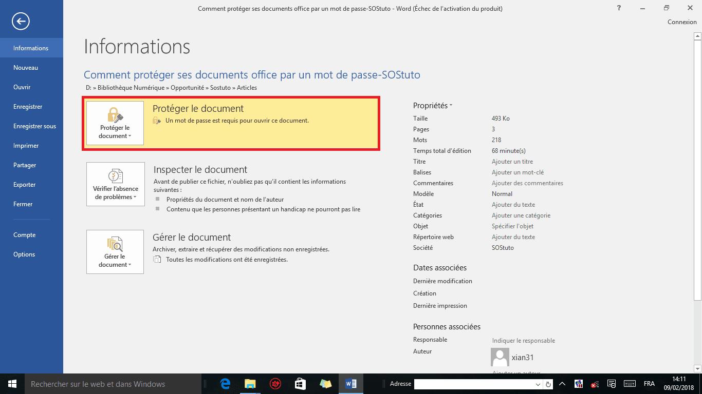 image5 Comment protéger un fichier Word par un mot de passe sous Windows 10 /8/7/XP