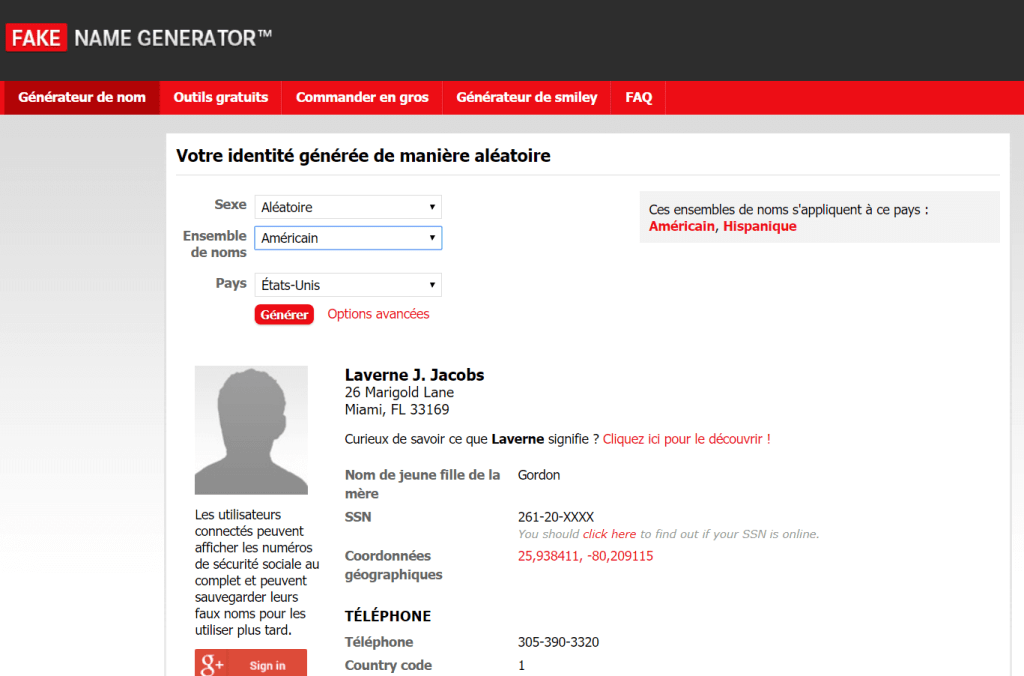 Accueil Fake Name Generaor 1024x676 Comment créer une fausse identité pour remplir les formulaires en ligne