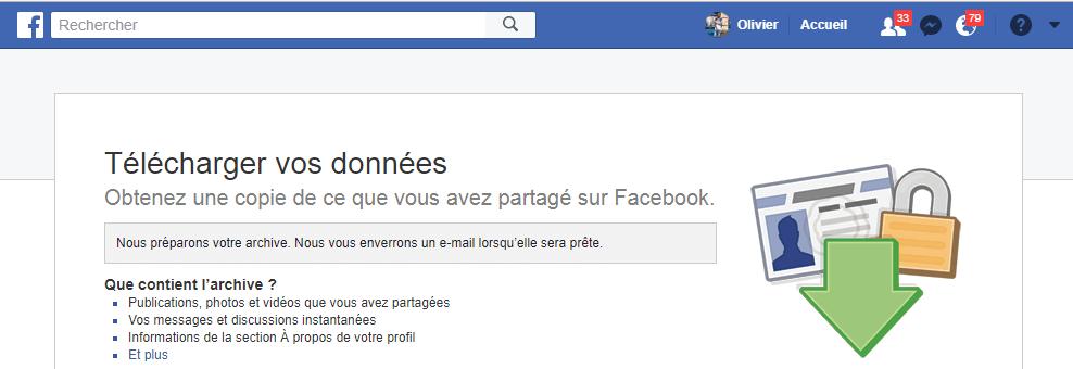 creation archive facebook Comment télécharger une copie des données que Facebook sait sur vous
