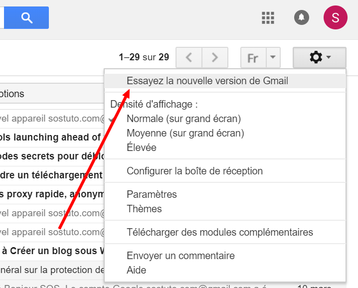 Essayer nouvelle version Gmail Comment activer la nouvelle version Gmail 2018 (nouvelle interface)
