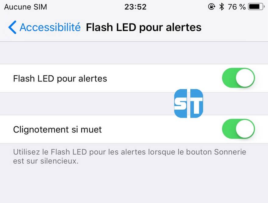 Flash LED pour les alertes iPhone Comment activer la notification par flash lors d'un appel entrant sur Android
