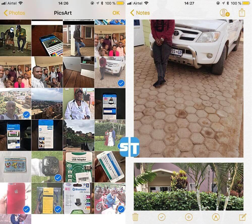 photos dans notes Comment protéger ses photos sur iPhone avec un mot de passe sans application