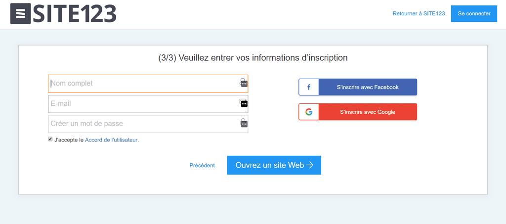964886e05f3 creer compte site123 1024x453 Voici comment créer un site web gratuit sans  savoir coder HTML