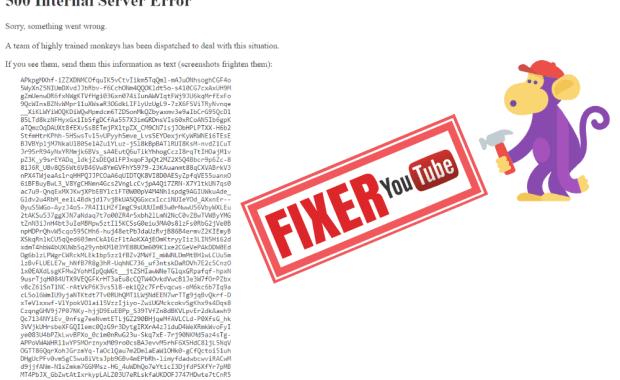 youtube error 500 Que signifie l'erreur «500 Internal Server Error YouTube » - YouTube Monkey Error